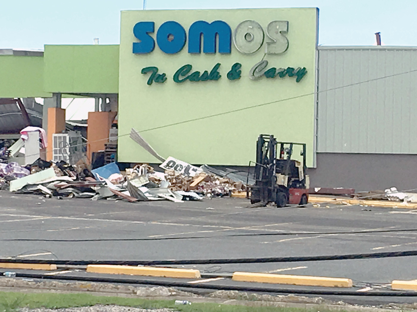 DEMOLISHED: What used to be a Somos Cash and Carry department store, reduced to rubble by the force of Hurricane Maria.