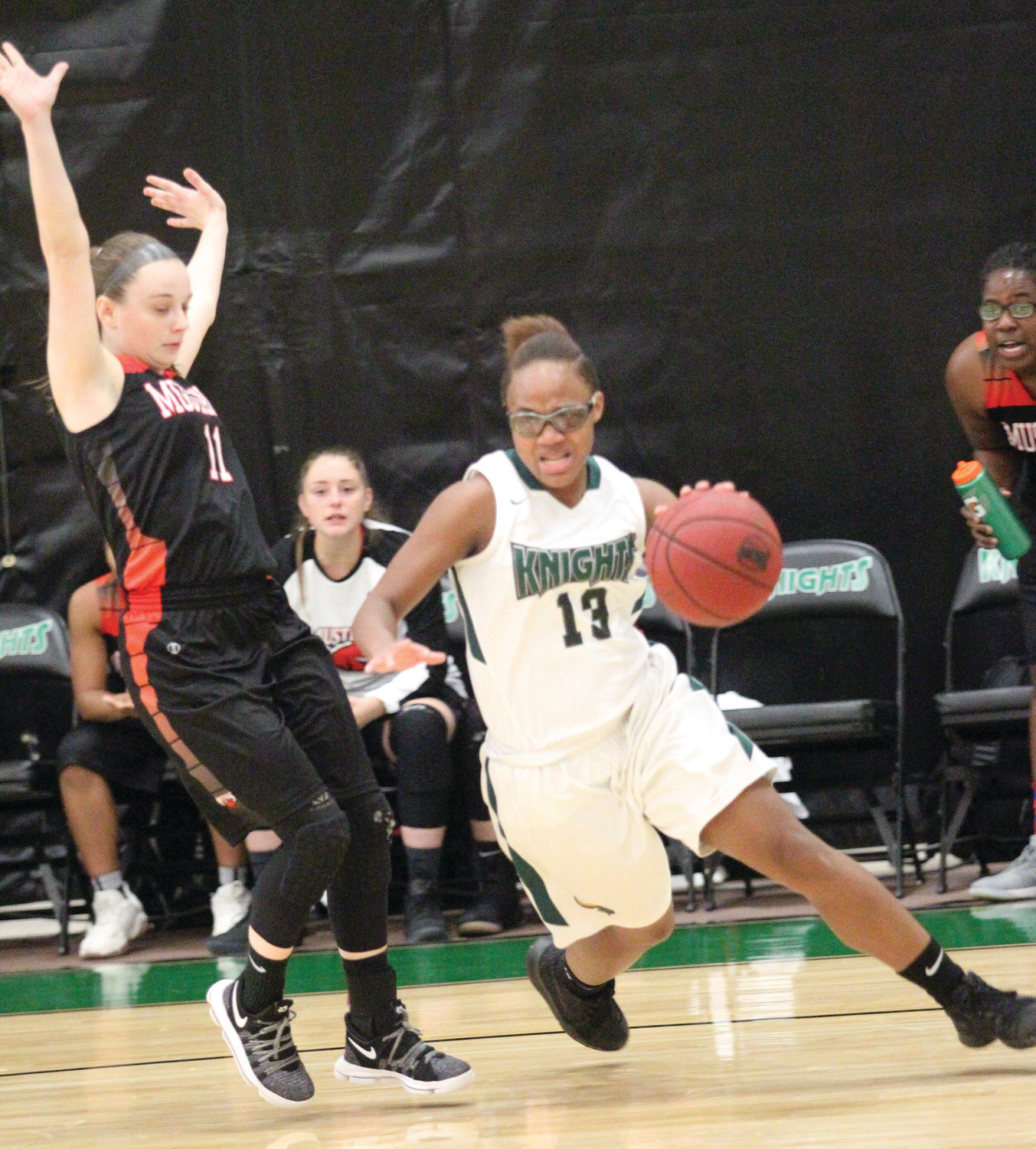 LEADING THE OFFENSE: Jada Littlejohn netted a team-high 22 points for the Lady Knights.