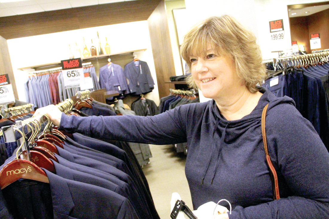 ON THE HUNT: Candace Caluori couldn't pass the deals she found at Macy's.