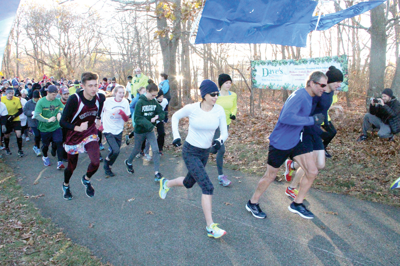 RUN BEFORE YOU EAT: Nearly 400 runners and walkers turned out early Thursday morning at Warwick City Park for the Warwick Rotary Club 5K Turkey Trot. Some came wearing dishes while others dressed as Pilgrims all for charity.