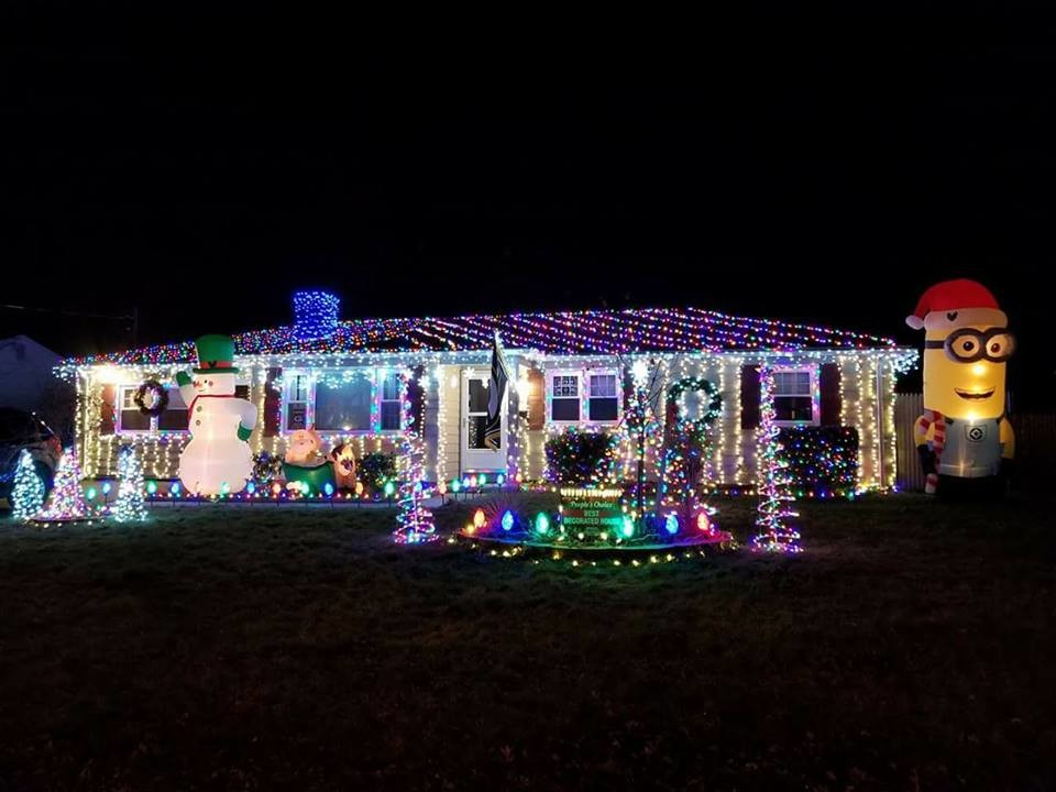 Last year's People's Choice Award winners, the Kinne family on Duncan Road, have gone all out and decorated their home again this year to defend their title.