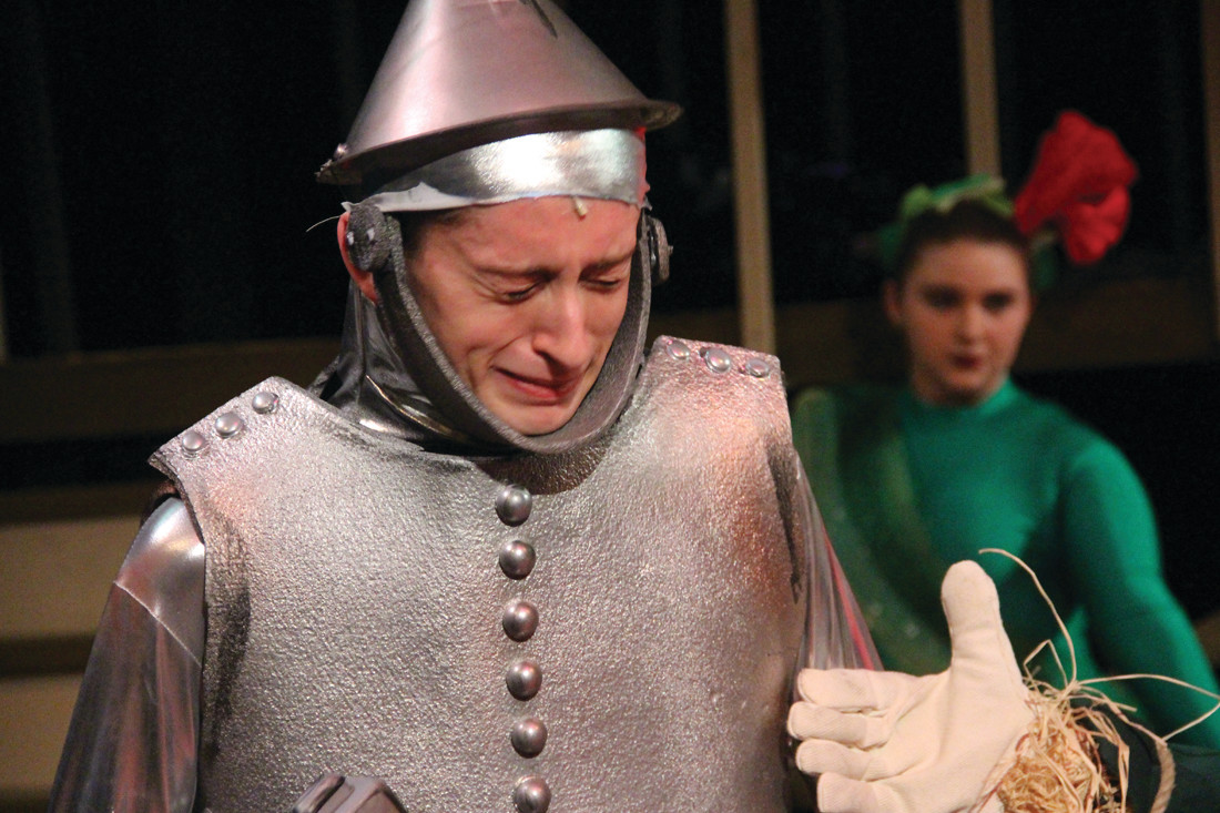 NO HEART FOR IT: Nicholas Bullock, who plays the Tin Man, shows he really does have emotions.