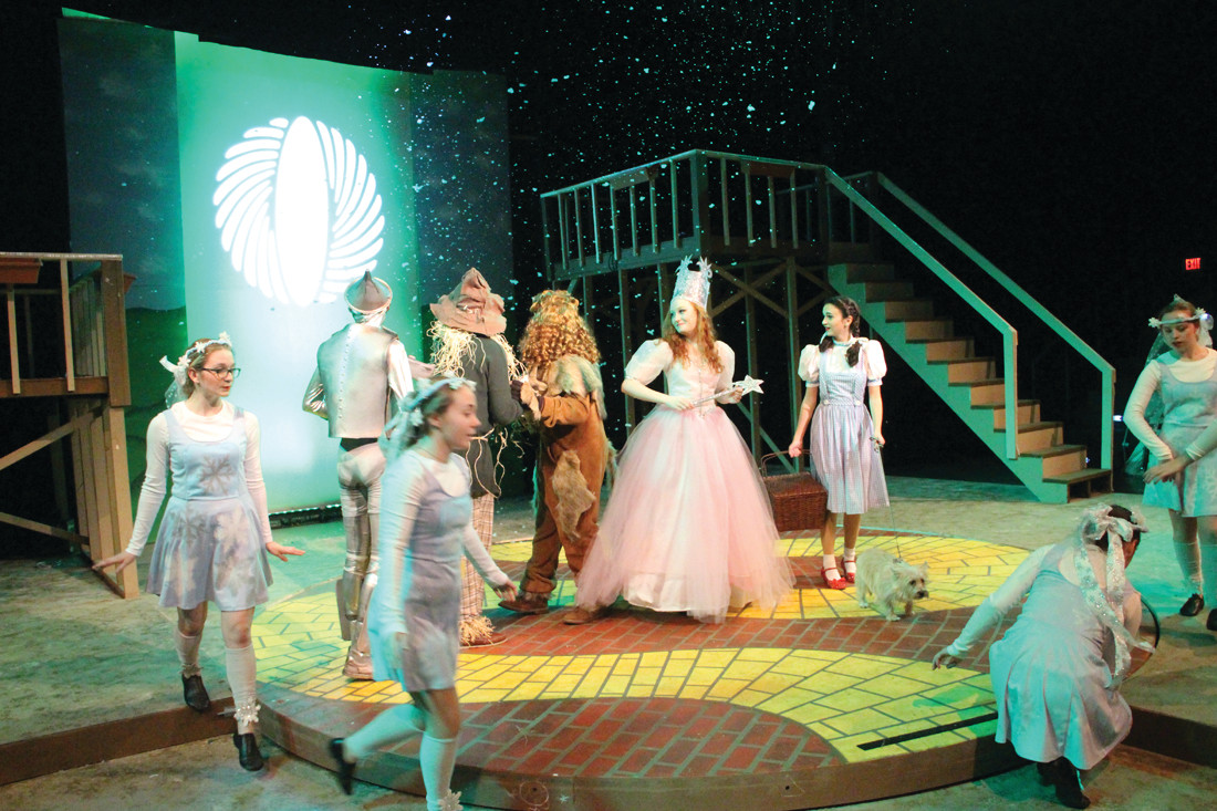 GOOD CONQUERS: Glinda played by Kate Fitzgerald lifts the spell cast by the Wicked Witch.