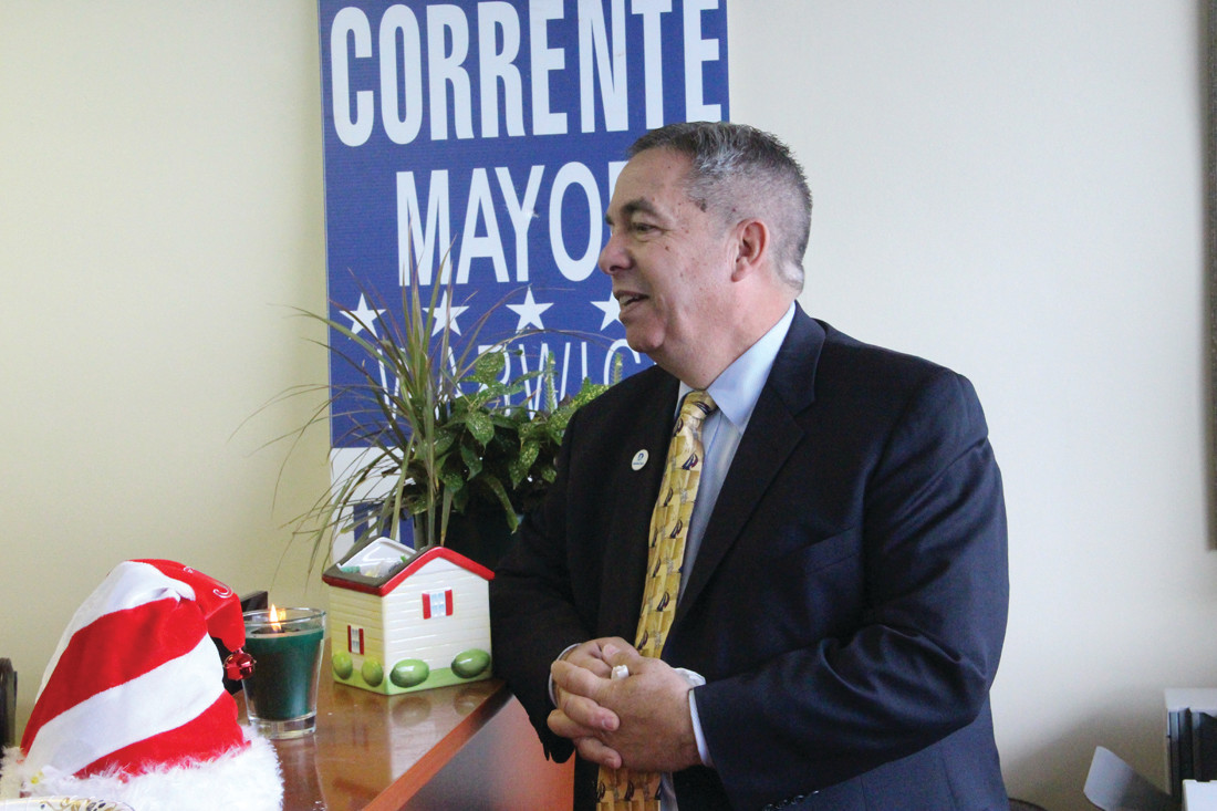 RUNNING FOR MAYOR AGAIN: Richard Corrente announced he is a Democratic candidate for mayor from his Bankers Mortgage office in the Gateway Plaza on Saturday.