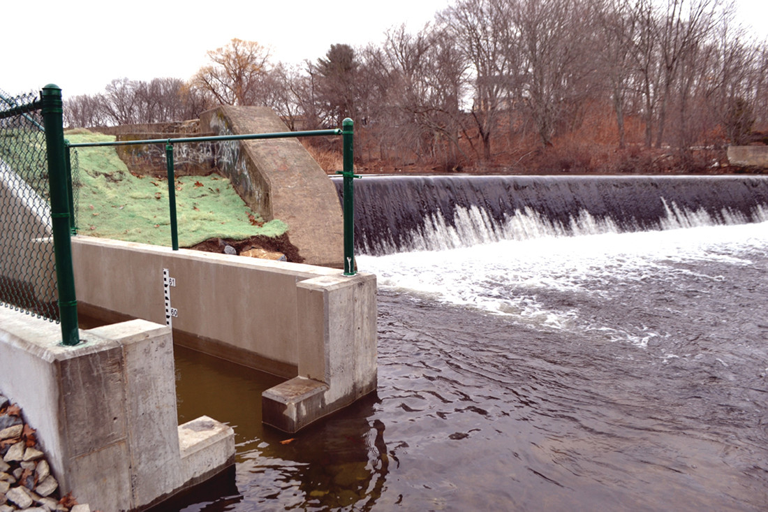 FINAL DESTINATION: After passing through other fish ladders, herring can now make their way to the recently completed fishway at the Manton Dam, which provides the fish with access to Manton Pond.