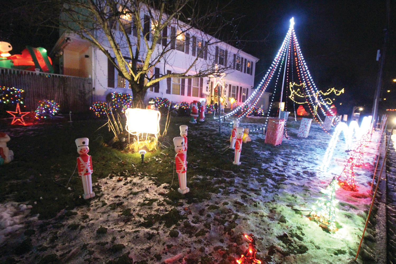 COWESETT SHOW: Everett Lewis says that his family's light display in front of their home on Shenandoah Road is the best they done in 21 years. It's worth a visit.