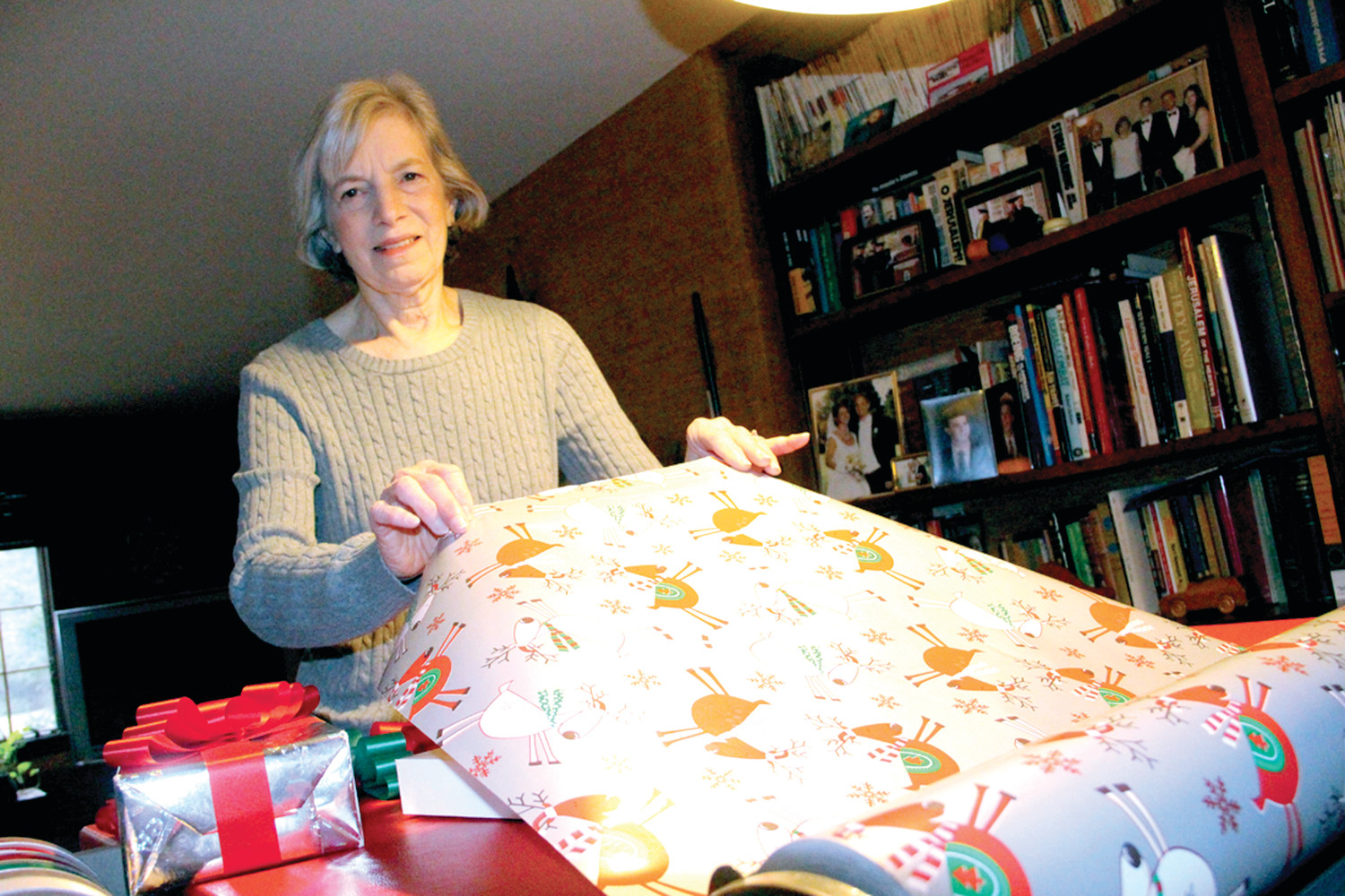 Judy Silverman has been gift wrap chairperson for 12 years with the RI Hadassah.