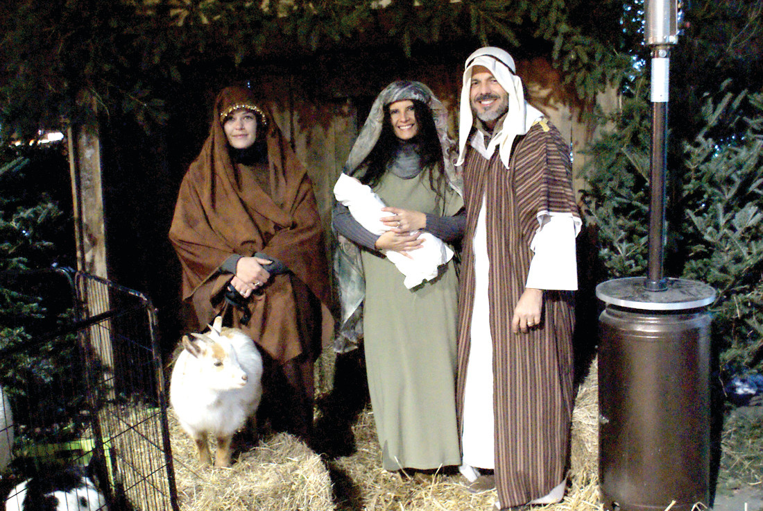 "AWAY IN THE MANGER: A highlight of ""A Christmas to Remember"" was the Manger Scene at Praise Tabernacle Church during this weekend's performances of A Christmas to Remember by Animal Affair. As the Shepard was Brittany Arruda and Mary and Joseph were portrayed by Claudia and Leonardo Morales."