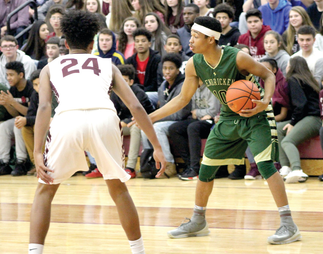 Andre De Los Santos had a double-double in Hendricken's 65-53 win.