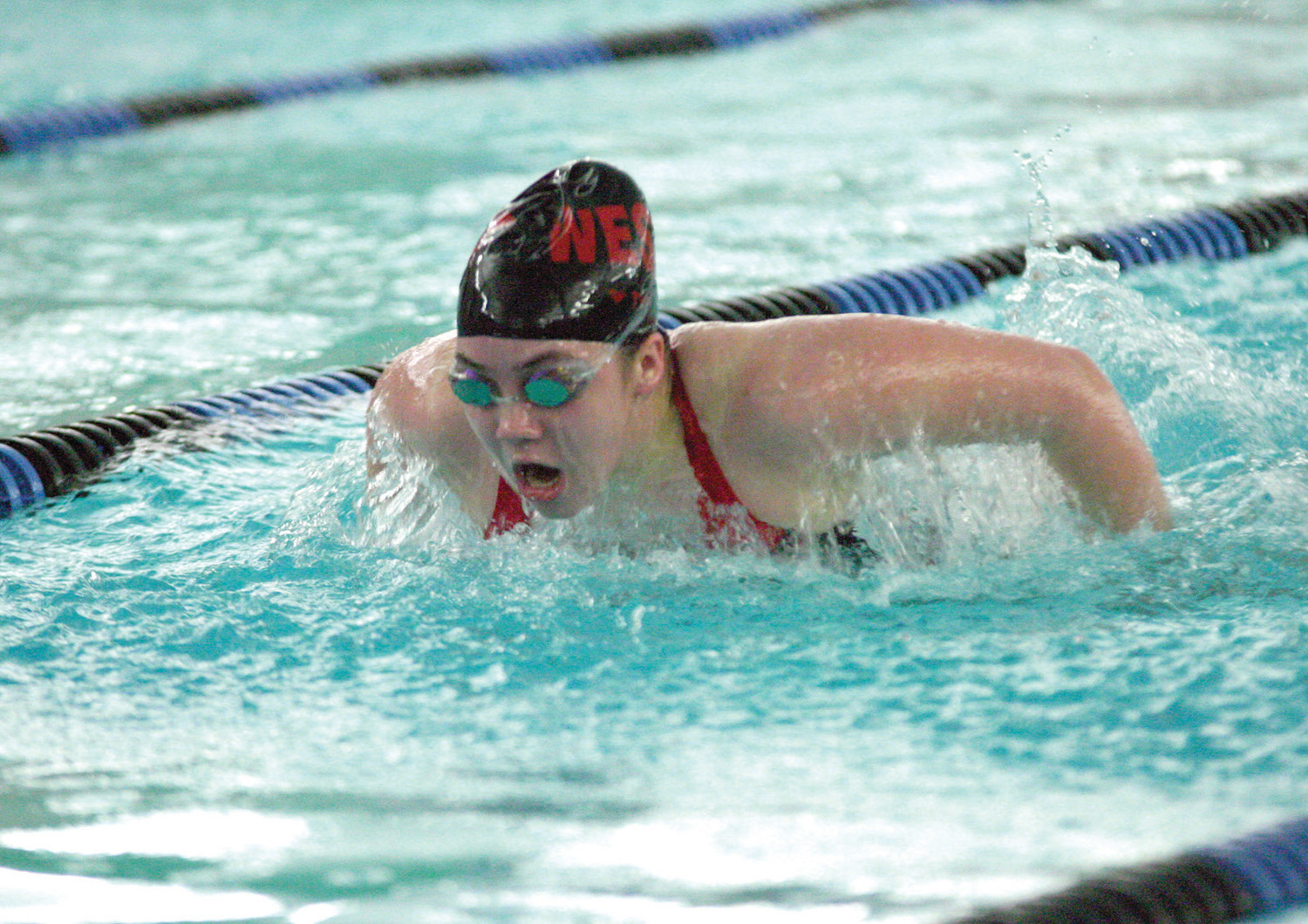 Haley McCrystal won two individual events and swam on two winning relays.