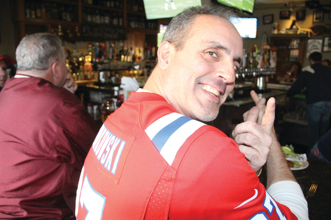 DIEHARD FAN: Jim Pugliano said he couldn't bet against the Patriots if sports betting became legal in Rhode Island.