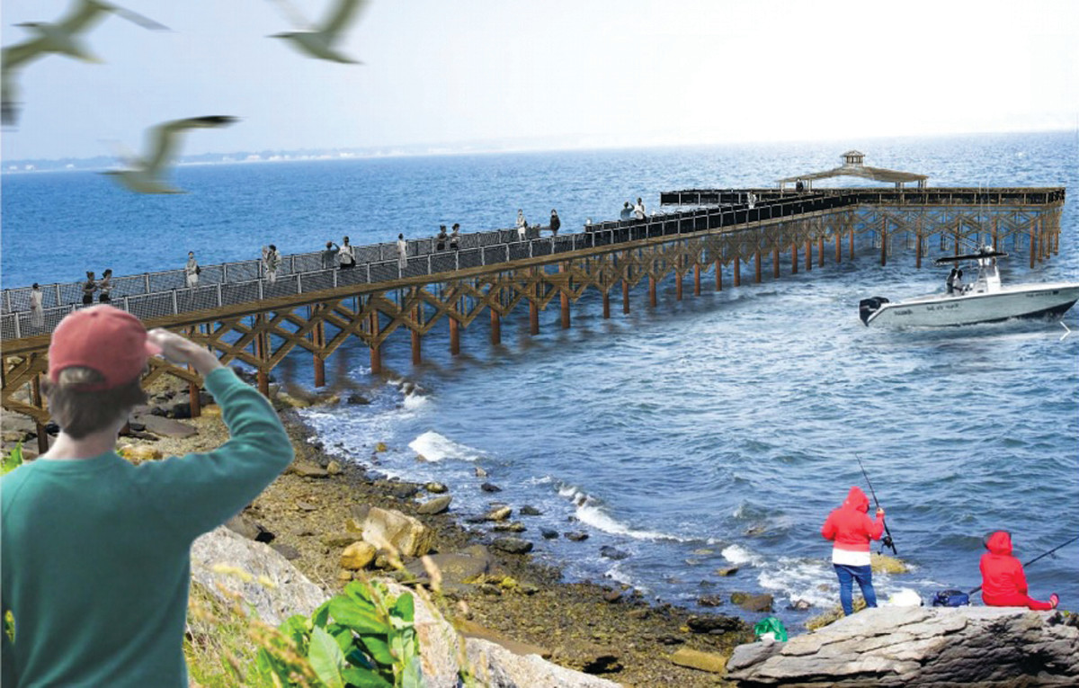 A conceptual design showcasing what the new Rocky Point Pier may be.