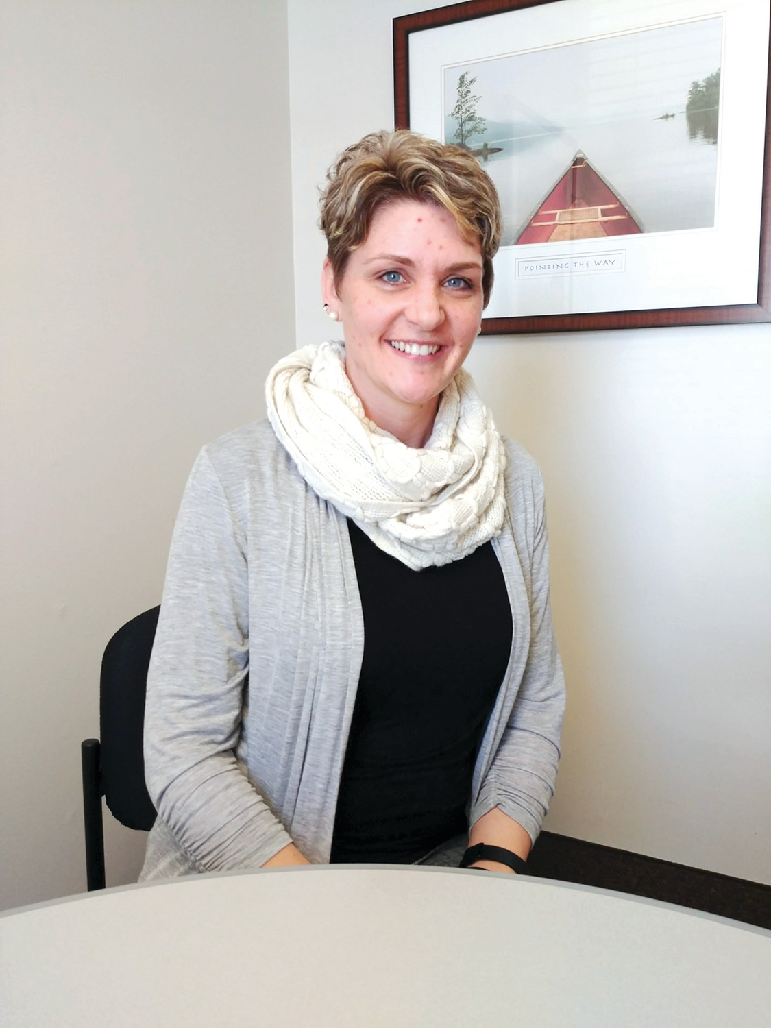 HHPCRI'S NEWEST EMPLOYEE: Jennifer Grace has taken on a new position as Volunteer Coordinator for Hope Hospice and Pallative Care RI, but not before having her own very personal, positive experiences in utilizing services from them first.