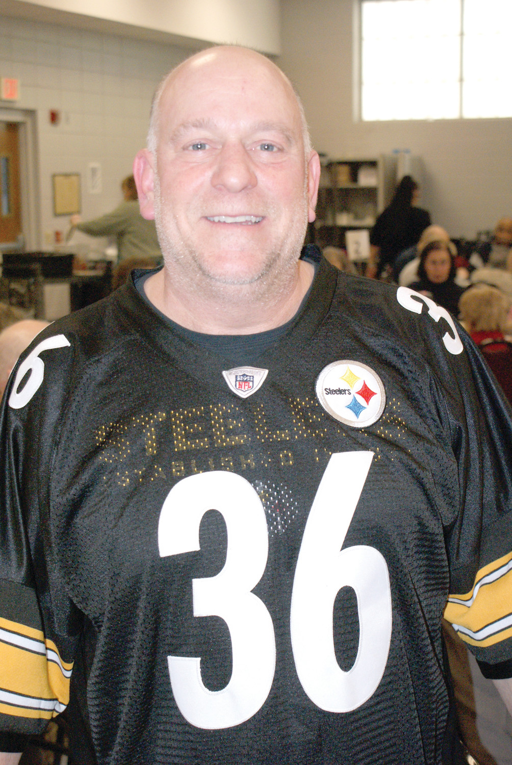 CONFUSED: Head Chef, Ray Sinapi at the Cranston Senior Center, had a difficult time understanding that his favorite team from childhood, Pittsburgh Steelers, were not in the Super Bowl this year.