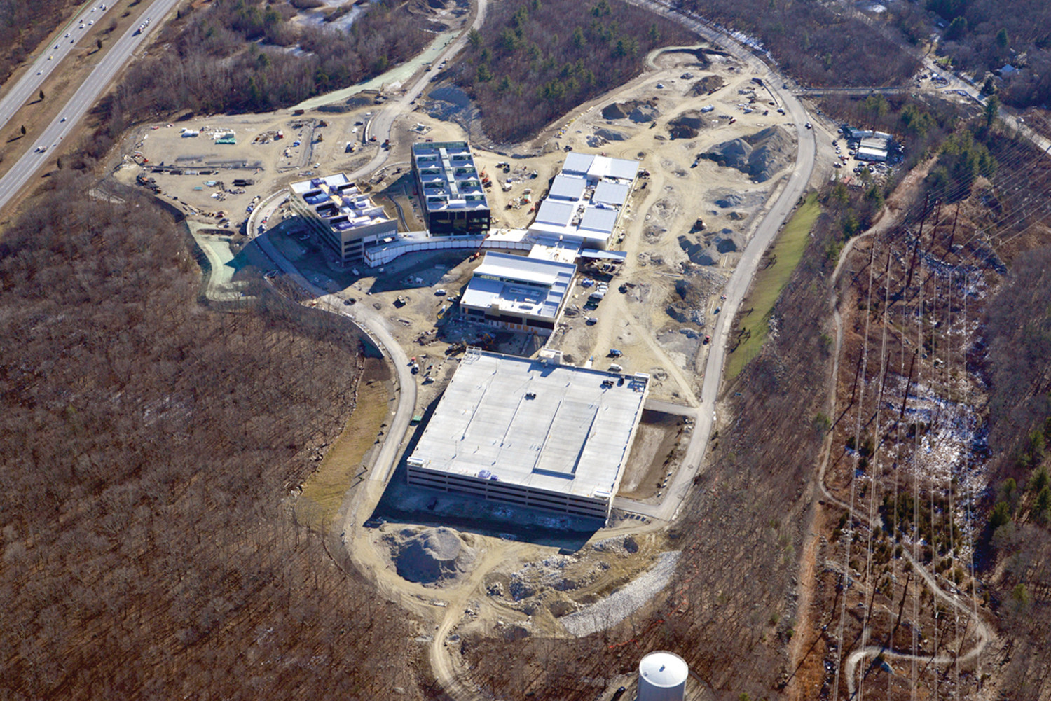EYE IN THE SKY: An aerial view of the current work at the Citizens Bank Campus, located off of Greenville Avenue and Route 295 in Johnston.
