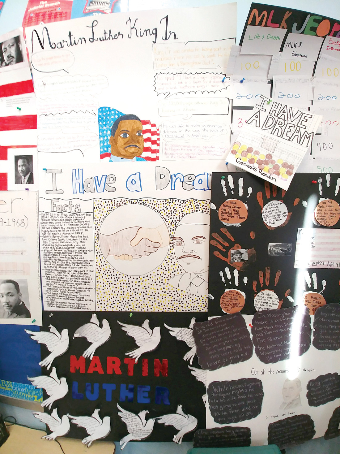 IN HONOR OF MARTIN LUTHER KING: In January, the students did an in-depth study of the life of Martin Luther King.