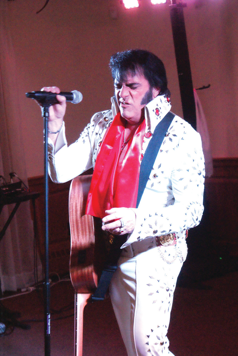 ELVIS ON STAGE:  Headlining the event was Robert Black as Elvis who is New England's premier award-winning Elvis Tribute Artist and performs nationwide. He performed for 90 minutes with back-to-back Elvis blockbusters which the audience enjoyed and some audience members could not help but to sing along.