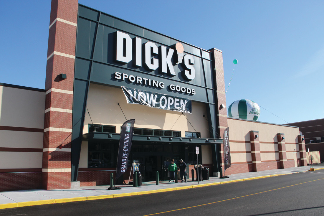 FESTIVE OPENING: The new Dick's Store at Rhode Island Mall opened on Saturday.