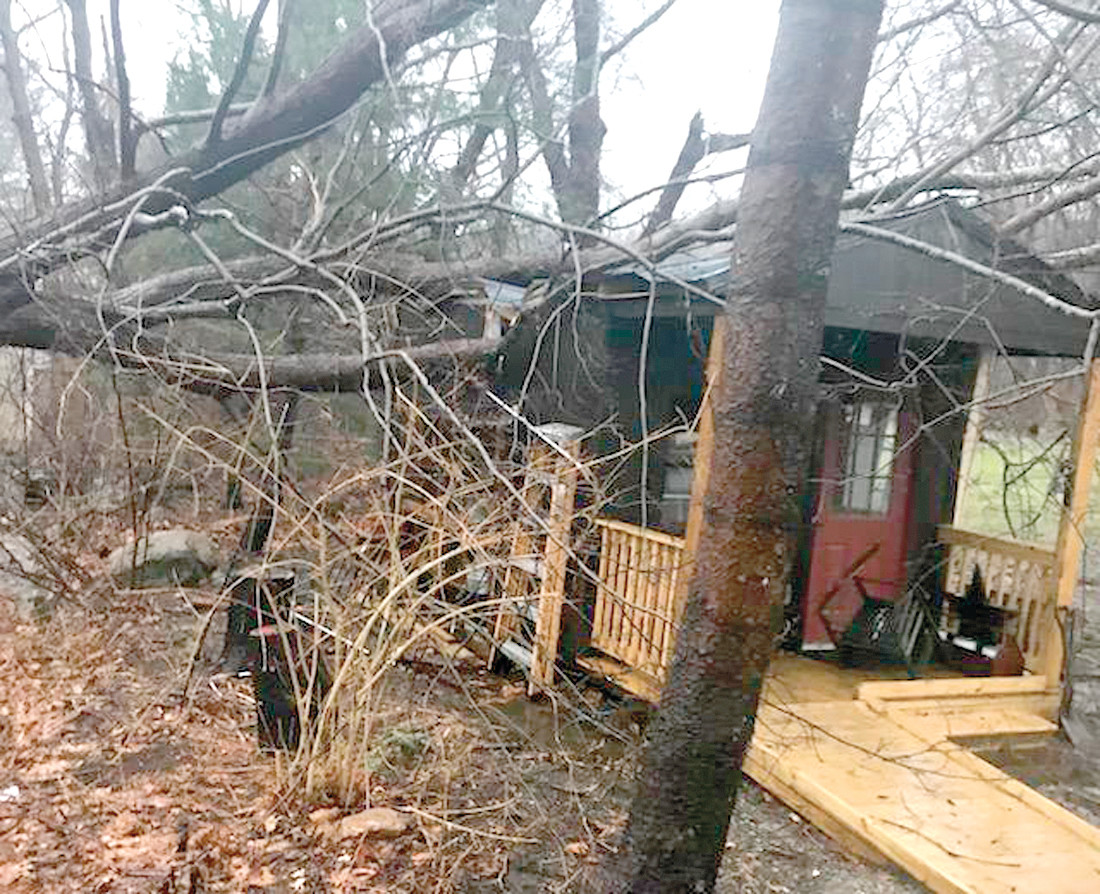 NO WAY TO SAVE IT: It was clear that the shed could not be salvaged.