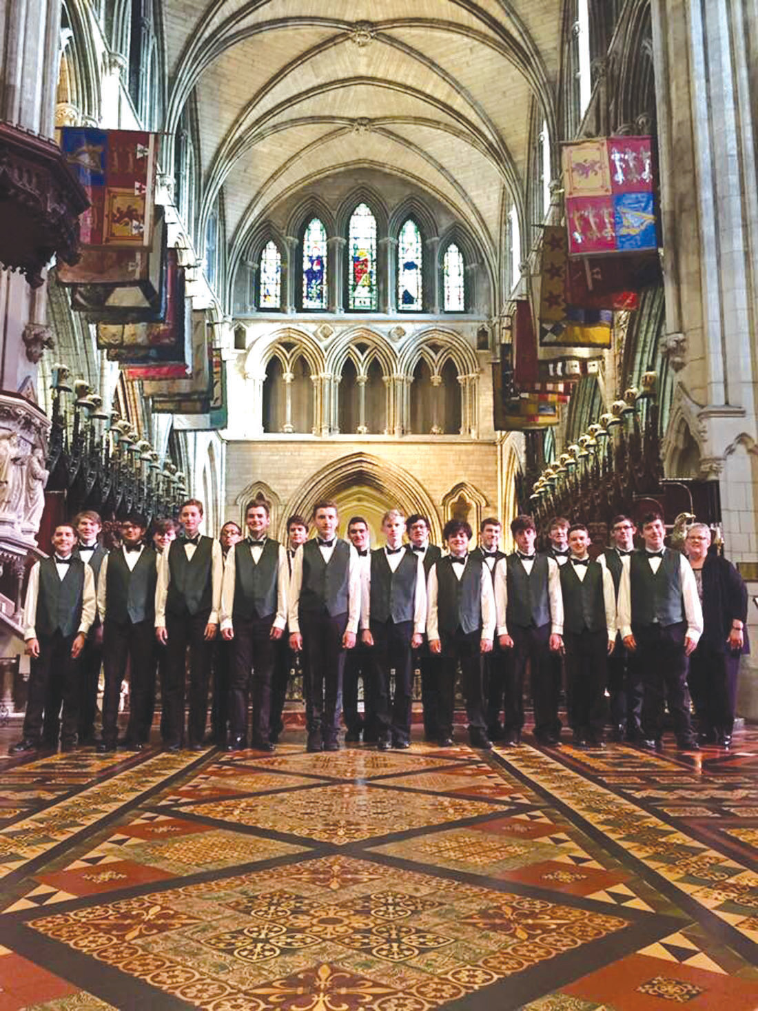 FINAL PERFORMANCE: The chorus closed out their visit to Ireland with a performance at St. Patrick's, The National Cathedral of the Church of Ireland.