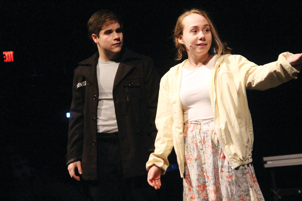 FREE-THINKER: Juliette Hoernle plays the role of Clarisse, a free-thinking teenager who has a profound effect on Carlin Fournier's character Guy Montag.