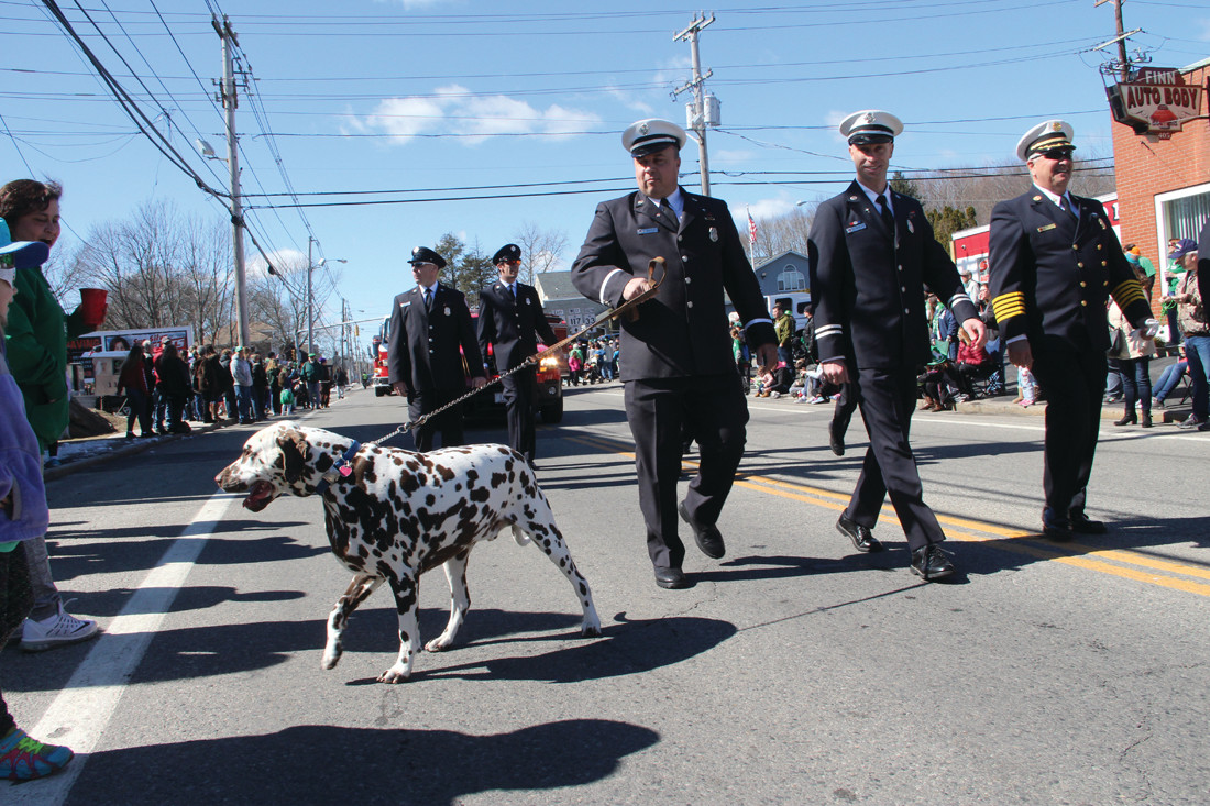 The West Warwick Fire Department mascot was a favorite with spectators.