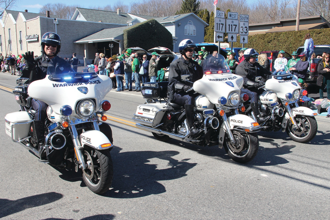 WARWICK CONTINGENT: Warwick police motorcyclists were in the parade.