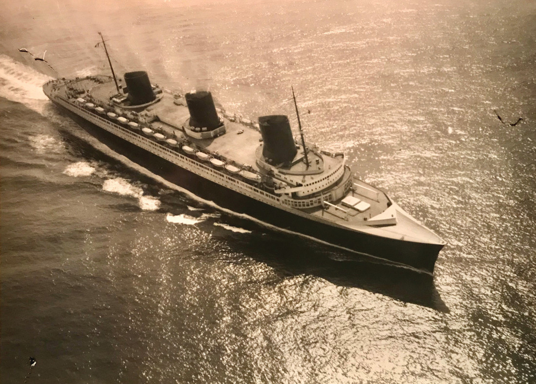 CRUISING FOR A CAUSE: The French liner Normandie serves as the theme for the Steamship Historical Society of America Ocean Liner Dinner on Saturday, April 7 at Rhodes on the Pawtuxet. This picture is from 1935.
