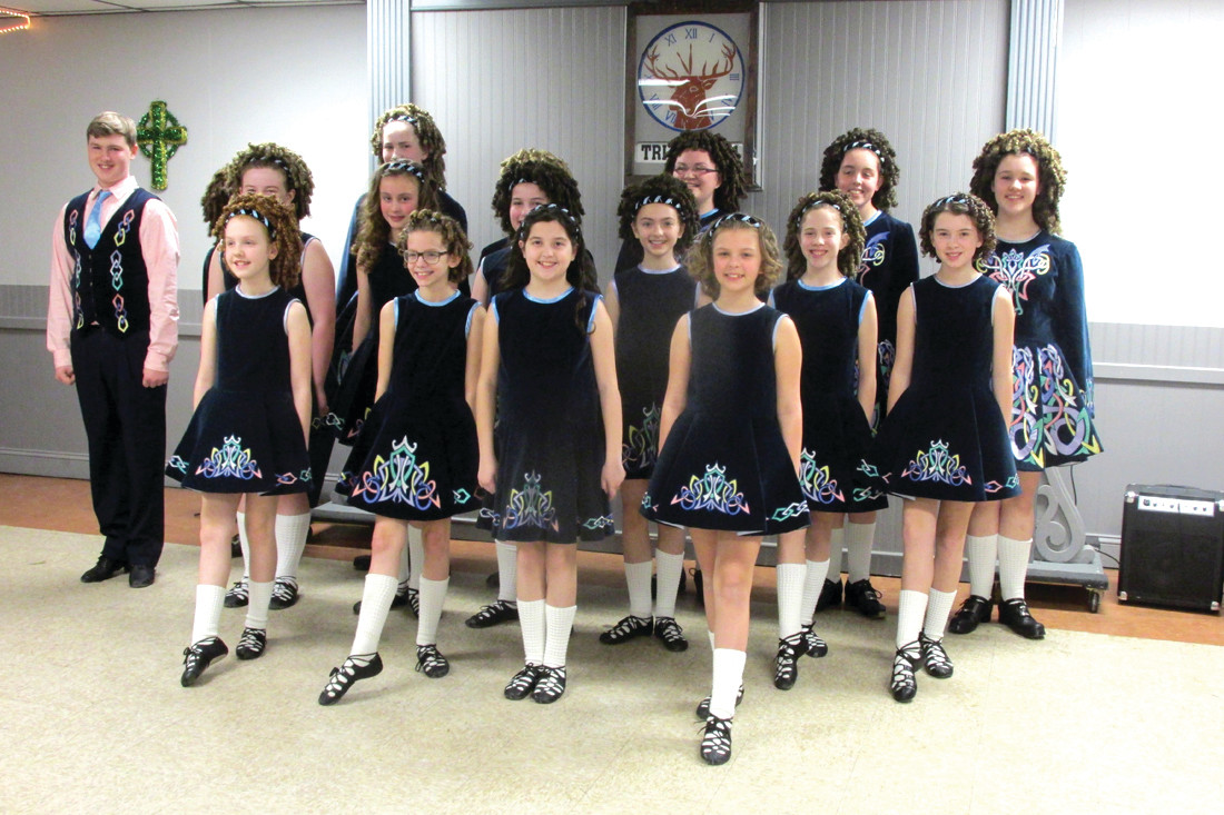 DAMHSA DYNAMOS: This is the talented troupe of Irish Step Dancers who received continuous applause Saturday night for their prolific performance at the Tri-City Elks Lodge in Warwick.
