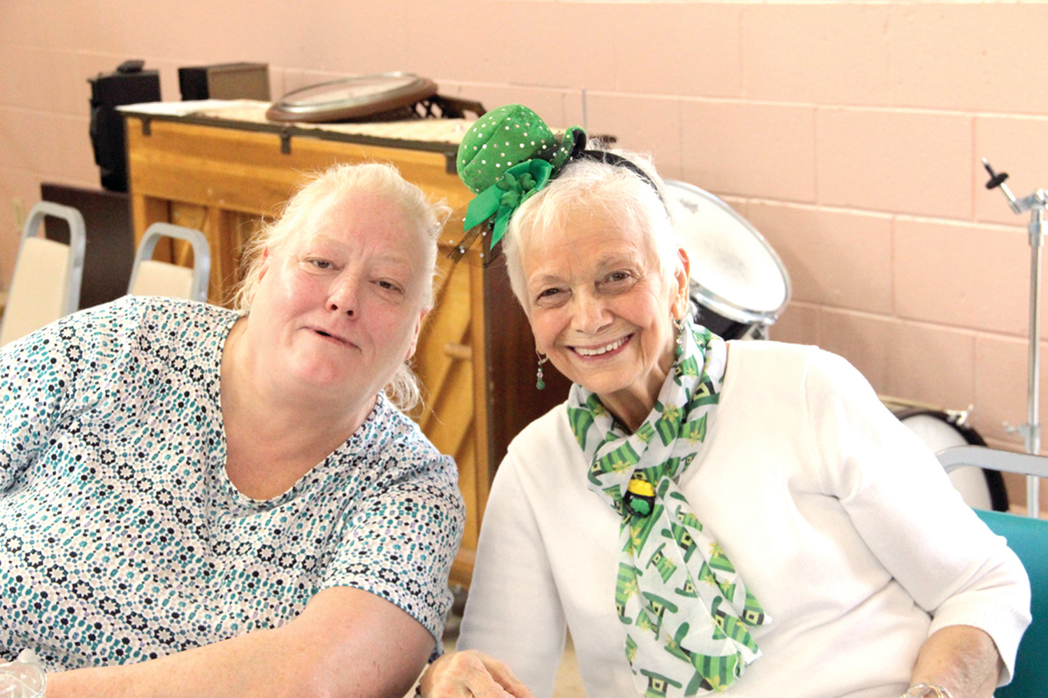 ENOUGH TO MAKE YOU SMILE: Mary O'Connor and Rosemarie Janelle enjoyed the event.