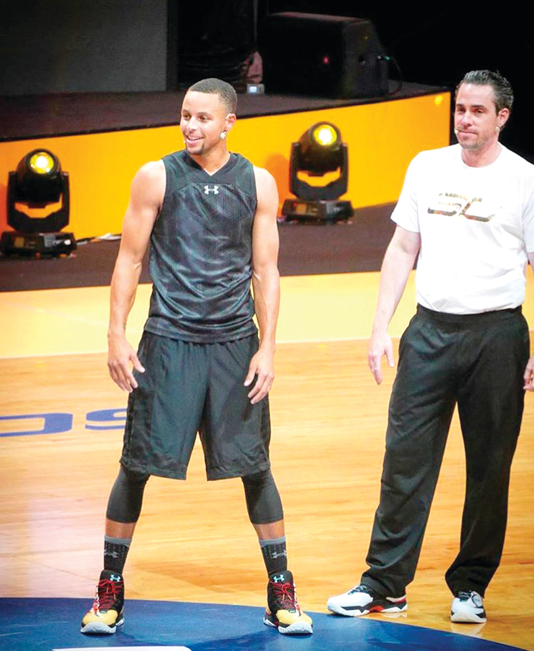McClanghan and Steph Curry.