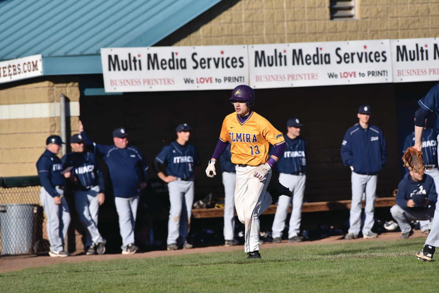 NICE NUMBER: While most people think the number 13 is unlucky, it hasn't been that way for Harrison Zambarano, captain of the Elmira College baseball team that recently began the 2018 season. (Photos courtesy of EC Sports Information)