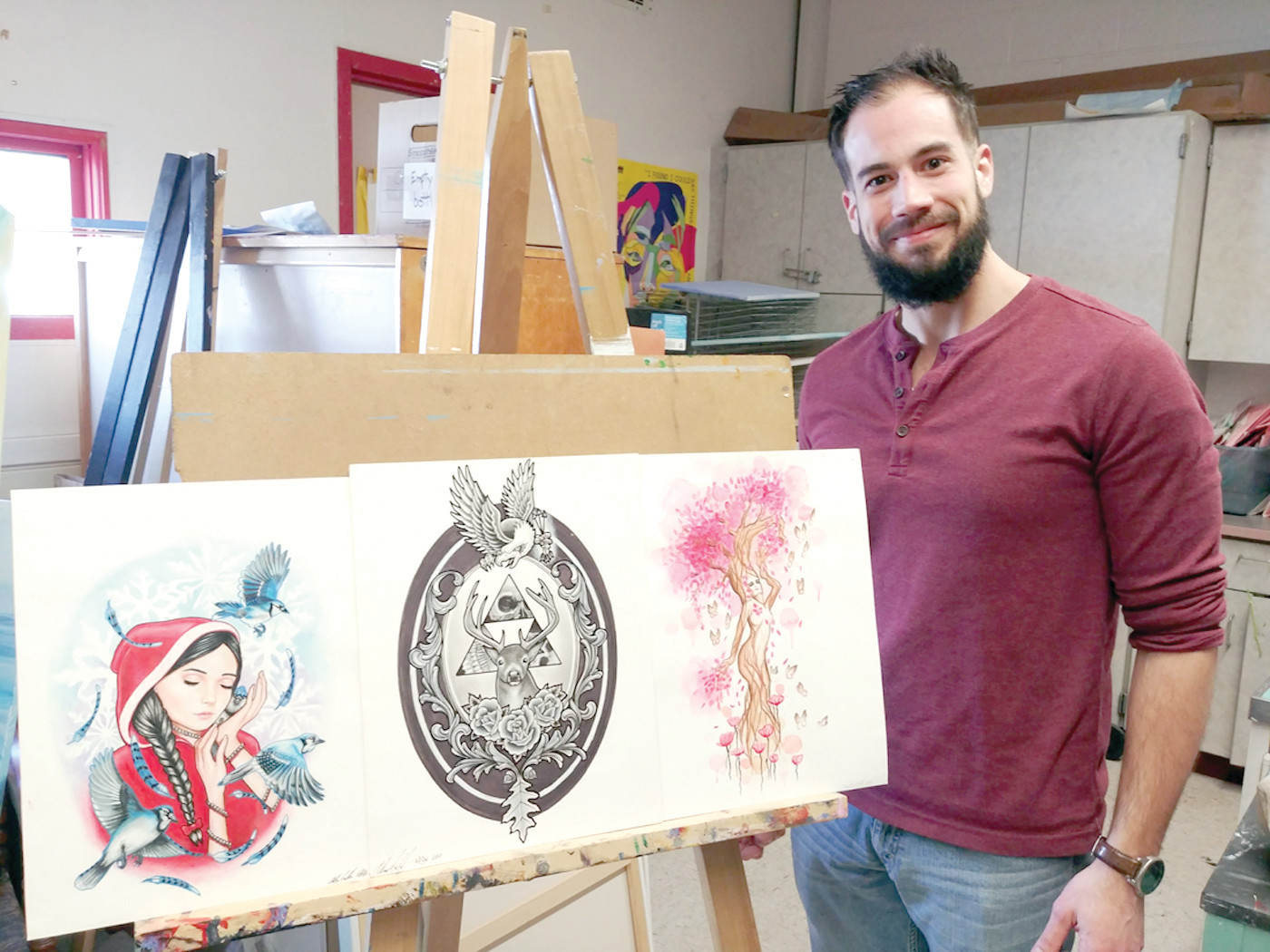 A DOODLE A DAY: From his early days of doodling, fidgeting and drawing, to today's work as a sought-after professional tattoo artist, Anthony (AJ) Williams is grateful for the role that art has played in his life and in his career.