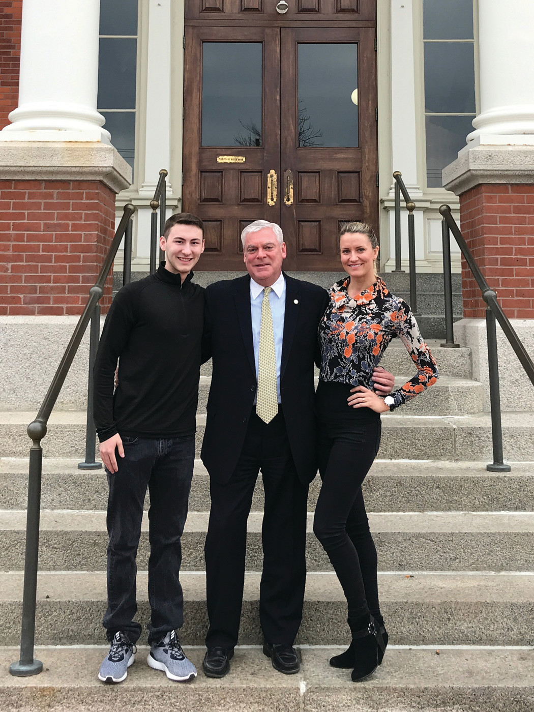 THAT DANCING FEELING: Mayor Scott Avedisian welcomed T.J. Kyle to Warwick City Hall in late March along with his dance partner, Jaimee Tuft, to congratulate him for all the success he has achieved in his young dancing career.