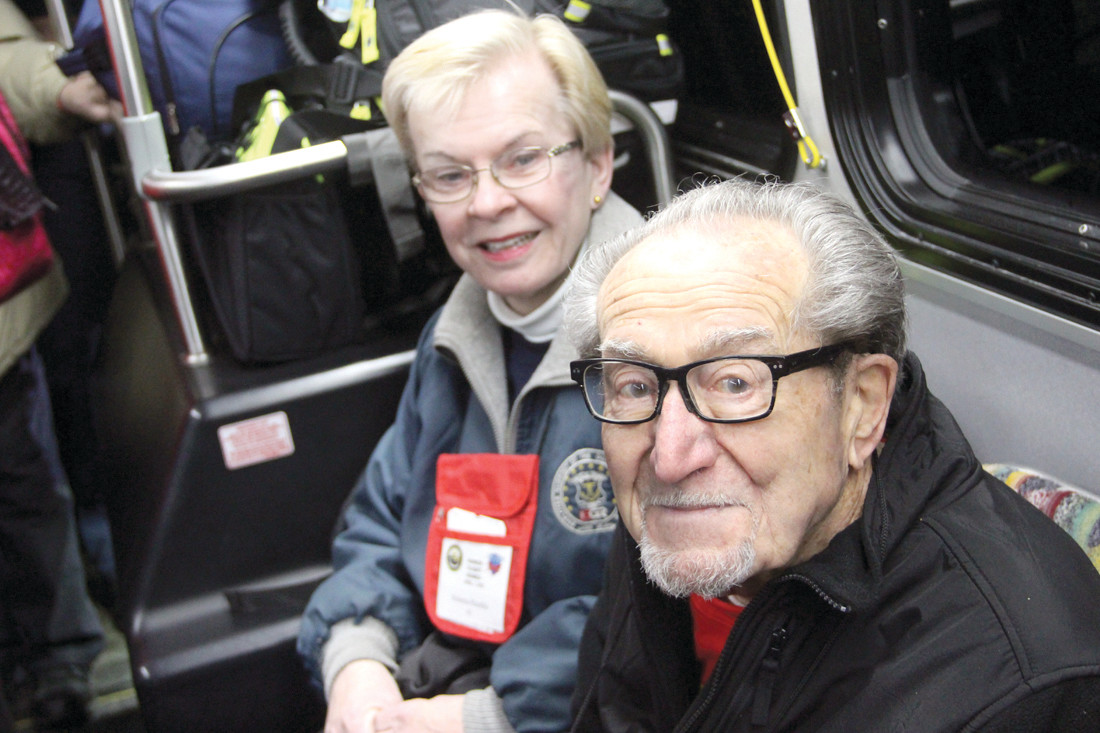 GOOD FRIENDS: Roberta Mudge Humble, of Warwick and a retired CCRI professor, served as guardian for Ernie Cassis, 93, a WWII Navy veteran. The two serve on the Westerly Armory Restoration, Inc., which Humble founded and remains president of.