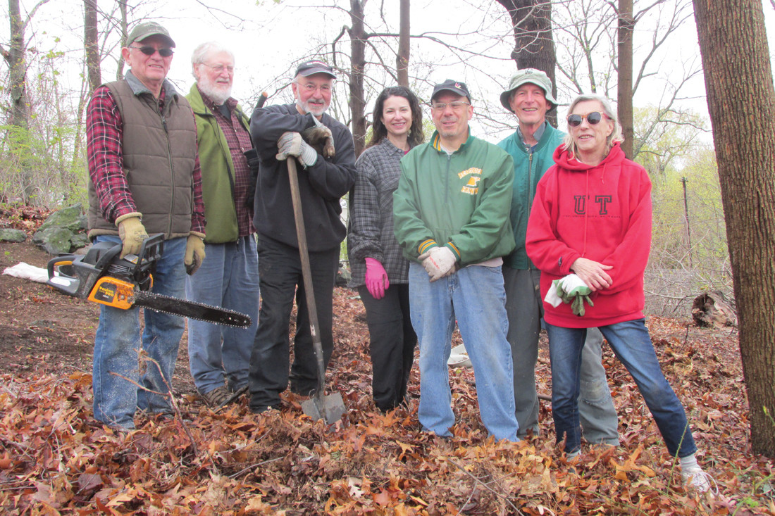 DEBRIS DUTY: These are some members of the Johnston Historical Cemetery Committee who'll be back at Operation Stand Down for Saturday's statewide cemetery clean-up day.