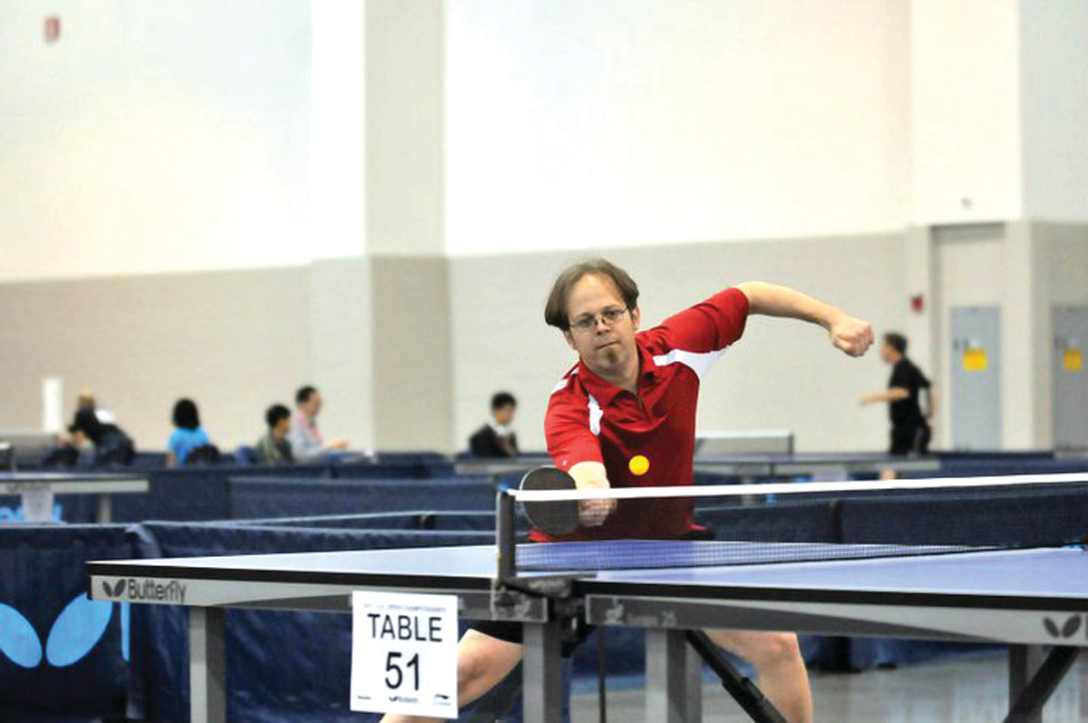 ON THE BALL: Steve Hopkins, a five-time Rhode Island State champion in Table Tennis, is organizing this Saturday's tournament.