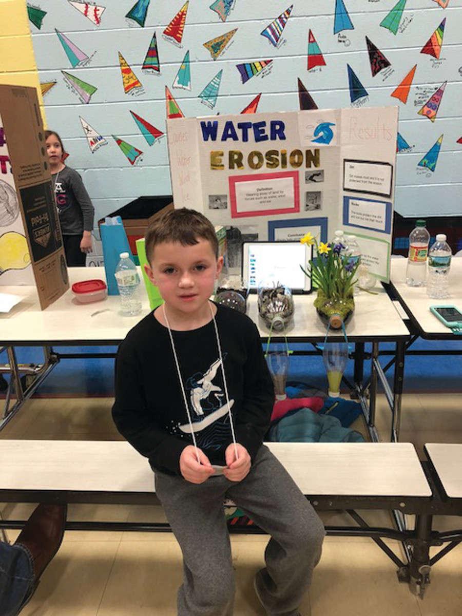 #NOFILTER: Connor McEnery, Grade 3, presents a science fair project on water filtration through different types of plants, and their effect on erosion.