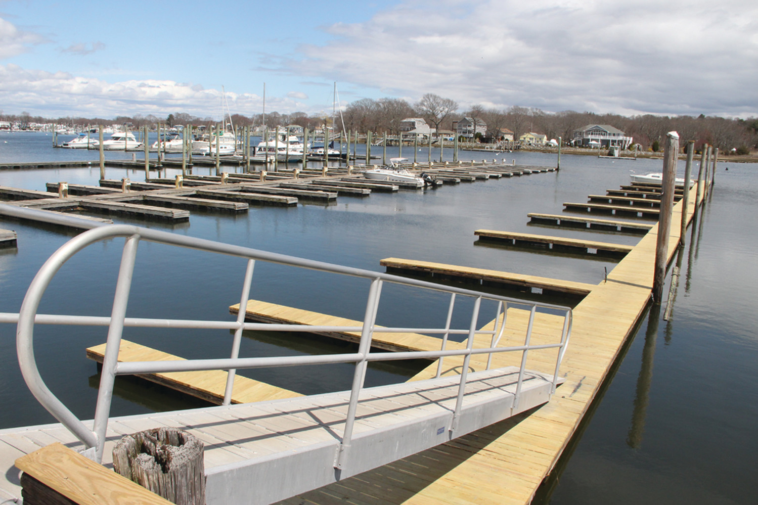 PLENTY OF SPACE: The new Fairwinds Marina in Oakland Beach on Warwick Cove is just about ready for the summer boating season.