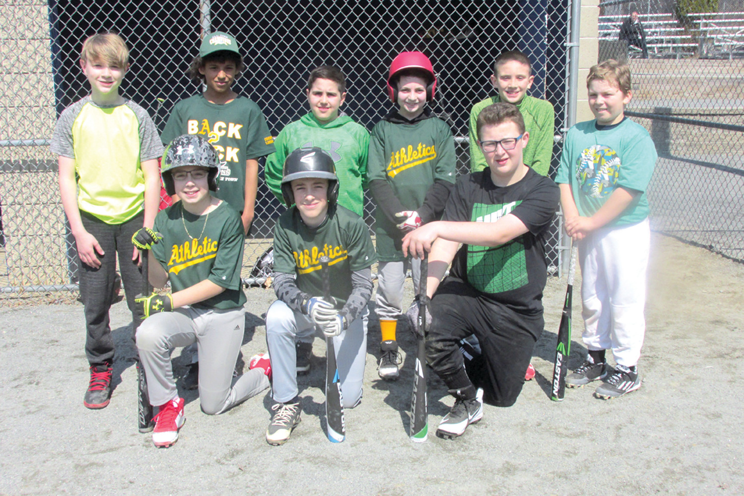 PANNONE'S PACK: The Countyview Landscaping-sponsored Athletics are managed by Ed Pannone and Saturday was gearing up to defend their coveted 2017 Johnston Little League Town Championship at Kennedy Field.