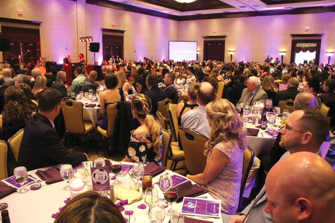 A FULL ROOM: More than 650 people turned out Friday night for the first annual Gianna Cirella Memorial Gala and Silent Auction at the Crowne Plaza.