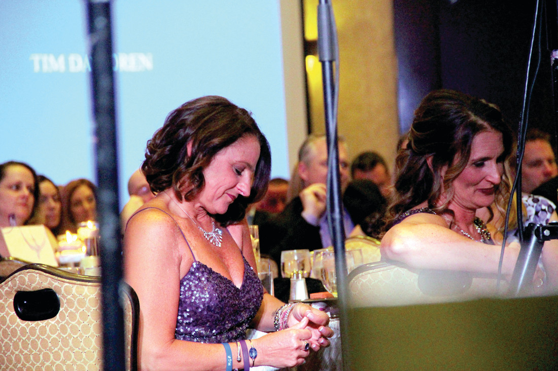REFLECTIVE: Tara Cirella listens to speakers at the opening of the gala.