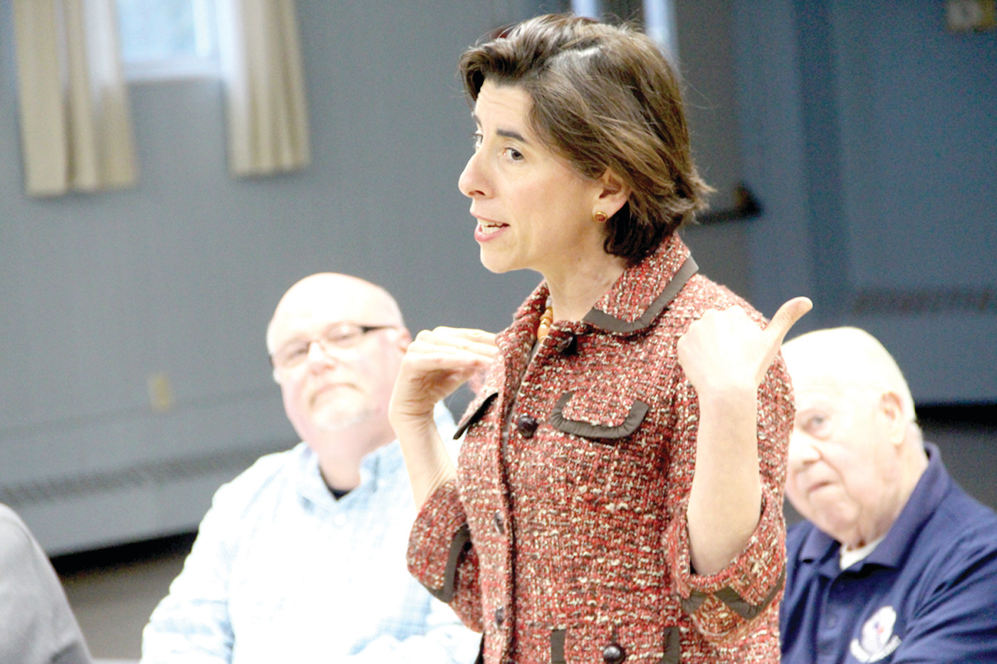 "CALL TO ARMS: To end ""nightmare"" in Washington, Gov. Raimondo urges Democrats to remain active at the local level."