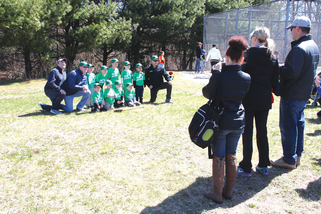 A PRIORITY: Teams gathered for pictures, a sure sign of the start of another season for American Centennial Little League that has fields next to the Crowne Plaza and behind the Warwick Public Library.