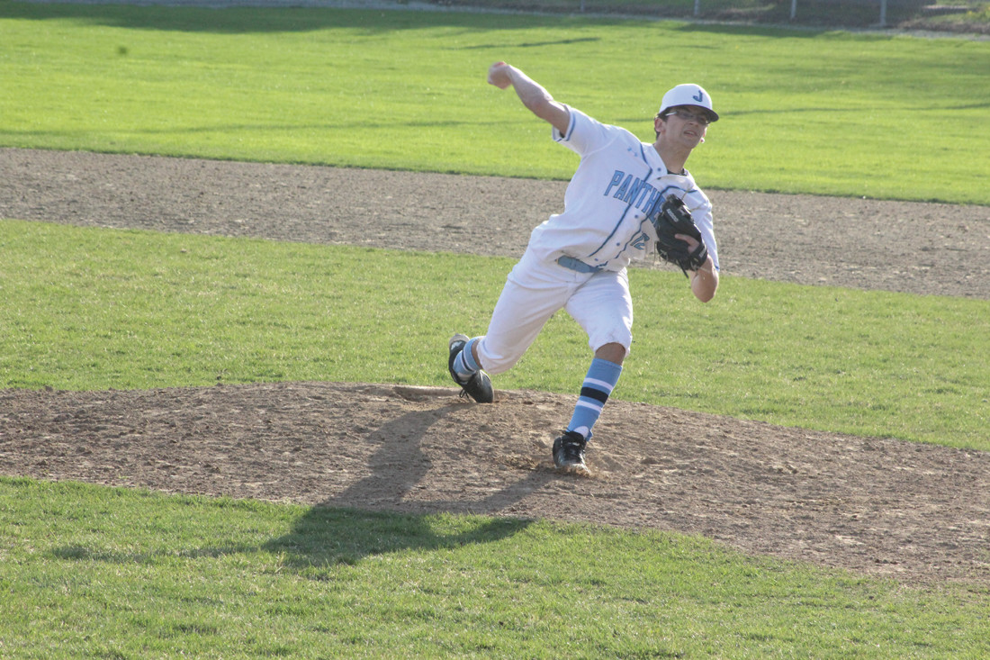 DOING WELL: Panthers head coach Joseph Acciardo thought junior Matt Loffredo pitched well for most of the contest.