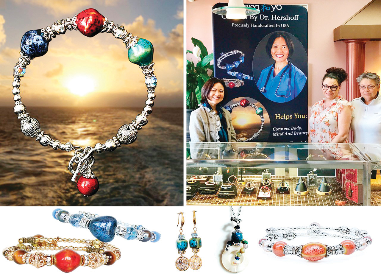 For your Mother's Day this year, visit Ocean State Jewelers on Atwood Avenue to discover the exquisite and restorative jewelry of Dr. Hannah Hershoff, seen here with proprietors Veronica and Alicia.