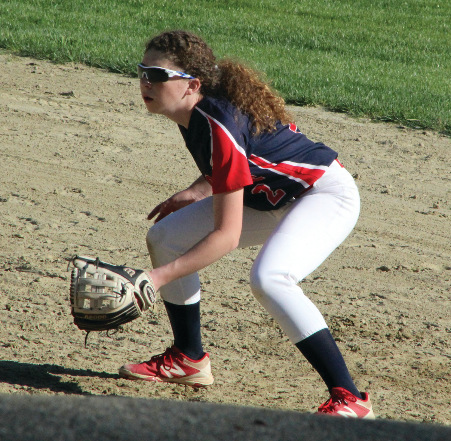 Toll Gate's Jillian Walsh gets set to make a play.