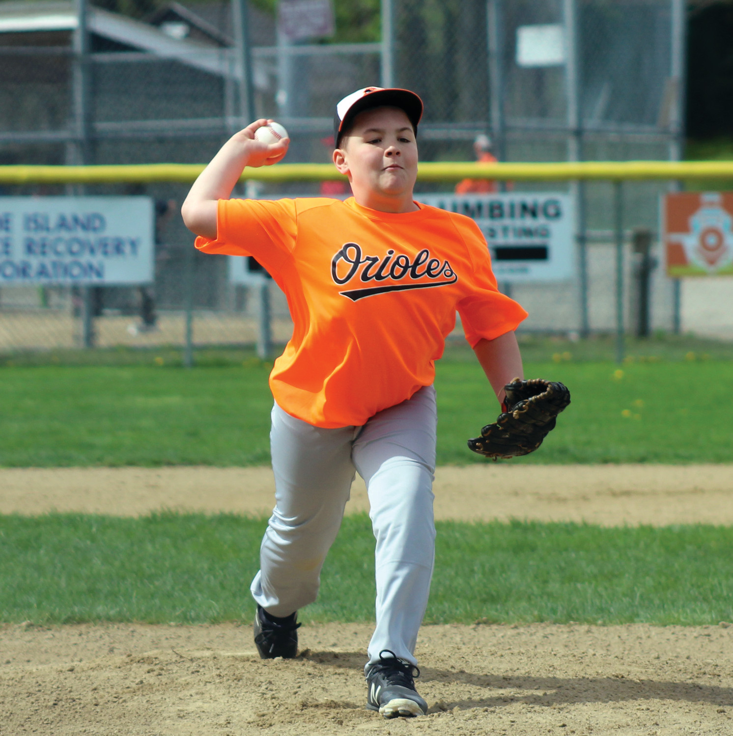 Orioles pitcher Dylan Guernon delivers a pitch in the first inning.
