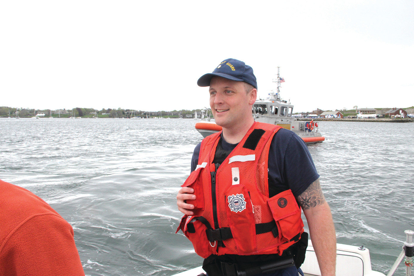 INSPECTION TEAM: Cranston resident Andrew Johnson, a member of the Coast Guard, helped conduct the inspection.