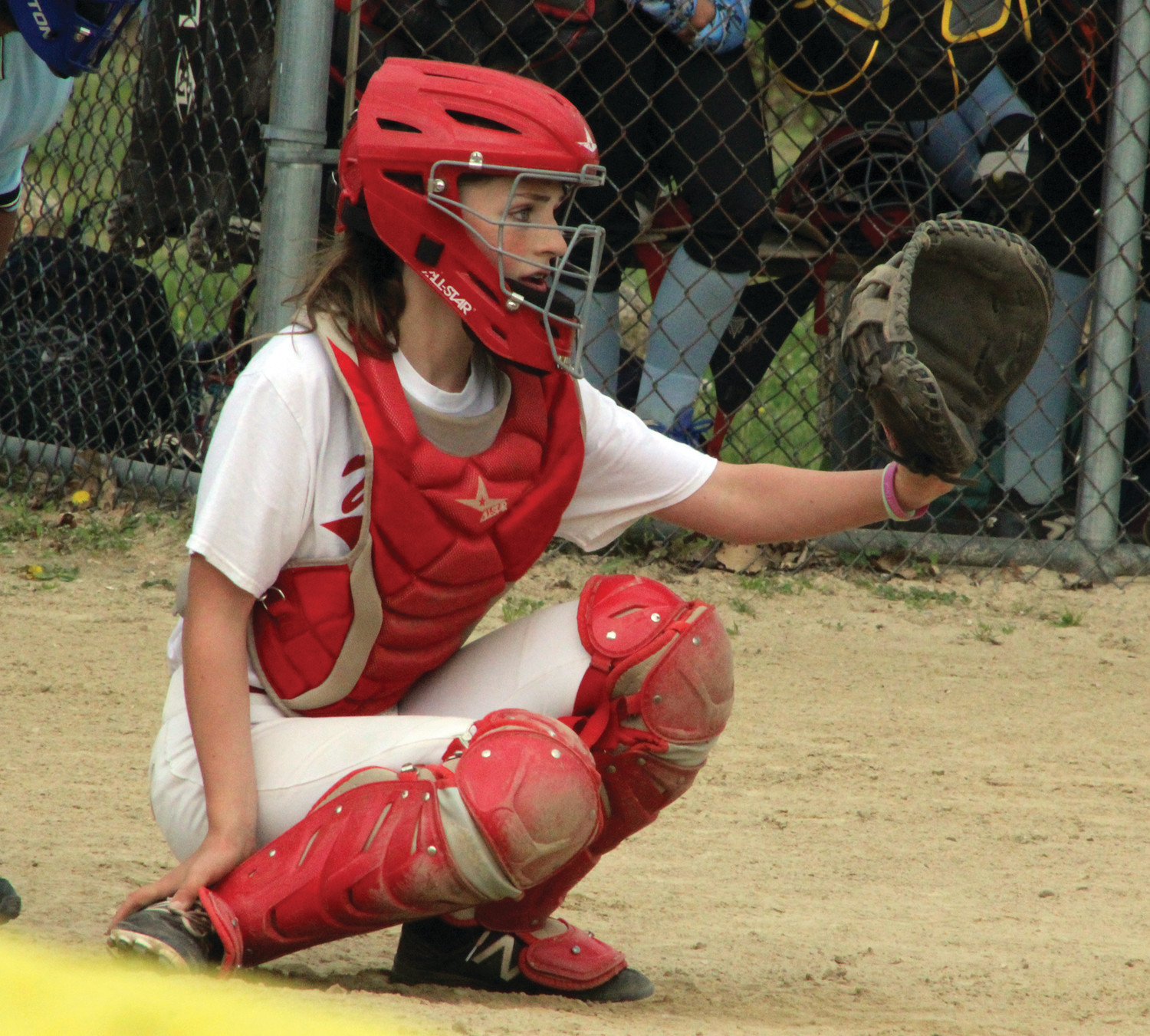 BACKSTOP: Winman's Marlee Walsh last week.